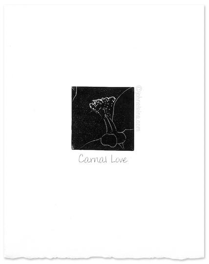 """Carnal Love"" ~ wood engraving ~ © John Steins"