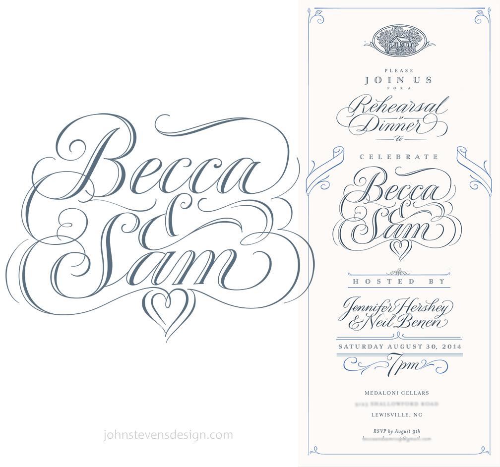 Wedding Calligraphy beautifully designed & written