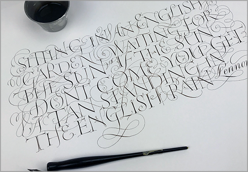 Calligraphy, Hand Lettering and Custom Typography