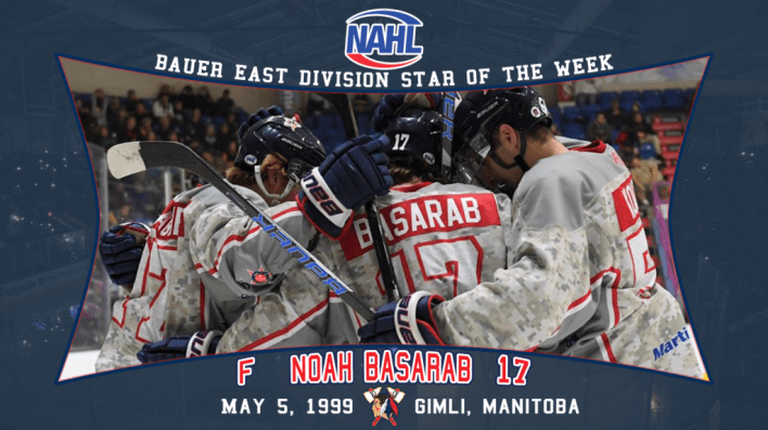 Noah Basarab Named NAHL Bauer Division Star of the Week ...