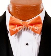 Dark Peach Simply Solid Bow Tie   John's Tuxedo
