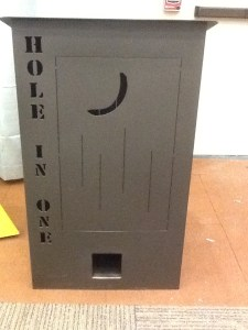 Outhouse Door In Back