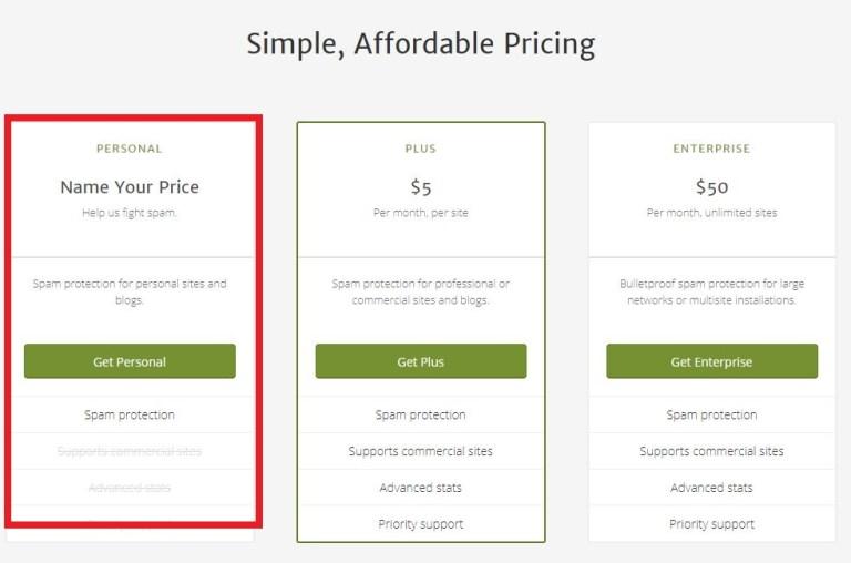 選擇價錢方案