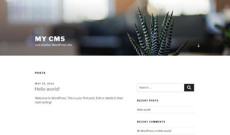 WordPress 建立成功