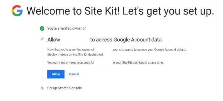 允許網站存取 Google 帳號