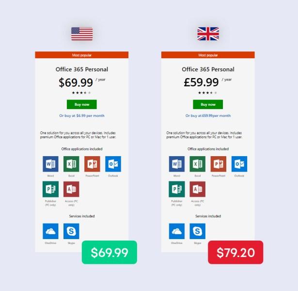透過 VPN 取得更便宜的價格