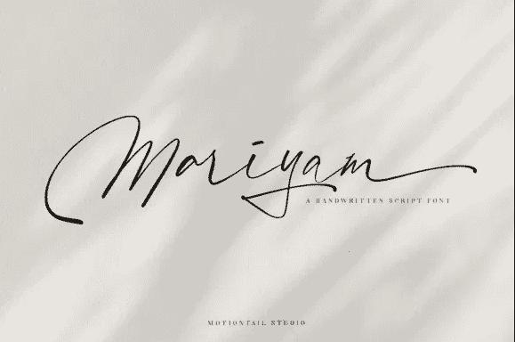 Mariyam Script Font