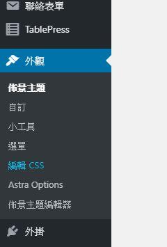 編輯CSS