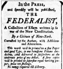 image of a The Federalist paper