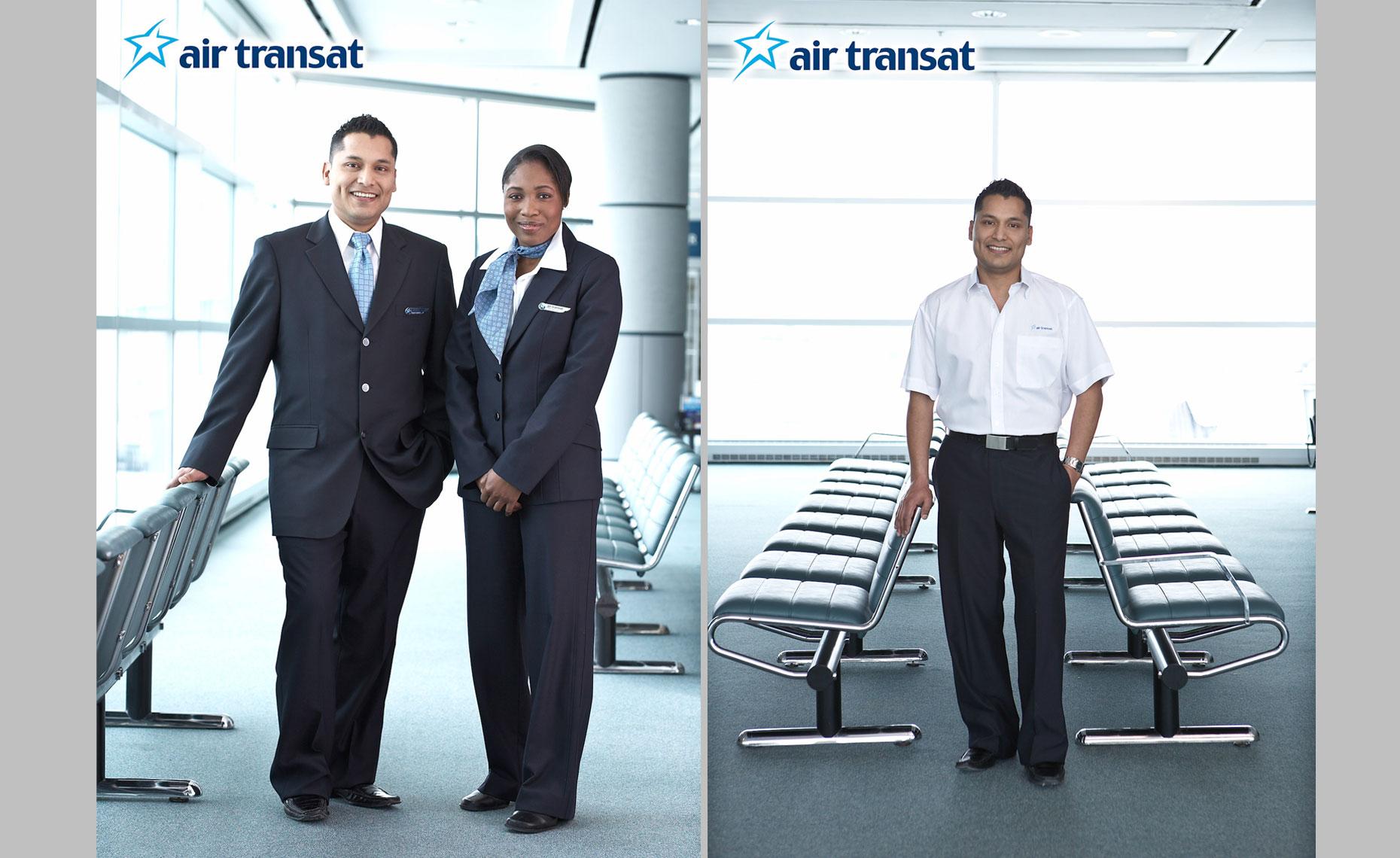 Air-Transat-Uniform-Portrait-Advertising-John-Trigiani