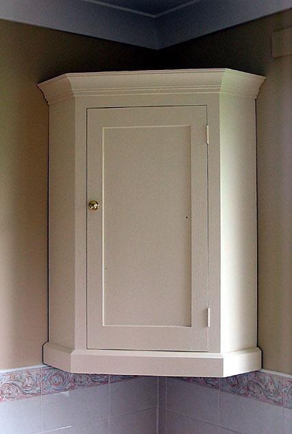 Modern corner cabinet for bathroom