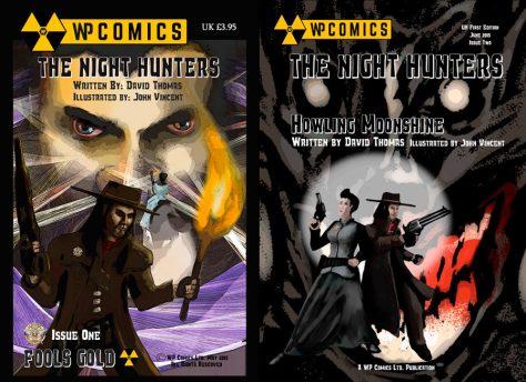 'The Night Hunters' Volumes 1 & 2, ©WP Comics Ltd