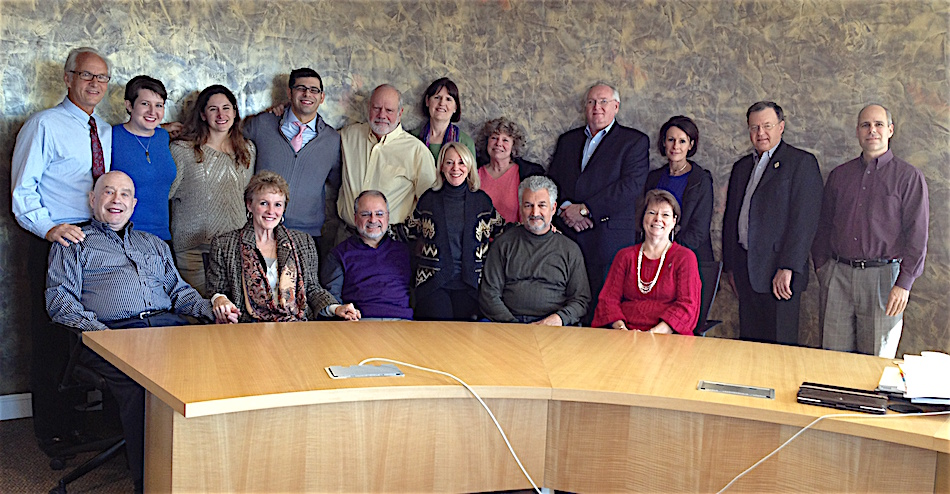 With the Integrative Health Policy Board in 2013 following two days facilitating the annual board retreat