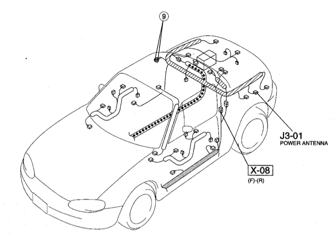 Nb Miata Power Antenna Wire At Harness Free Download