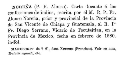 "Figure 8 - Brasseur's separate ""Carta"" entry"