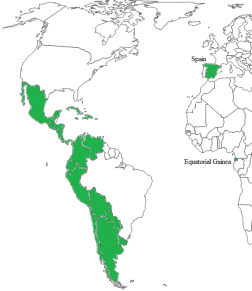 officially Spanish-speaking countries