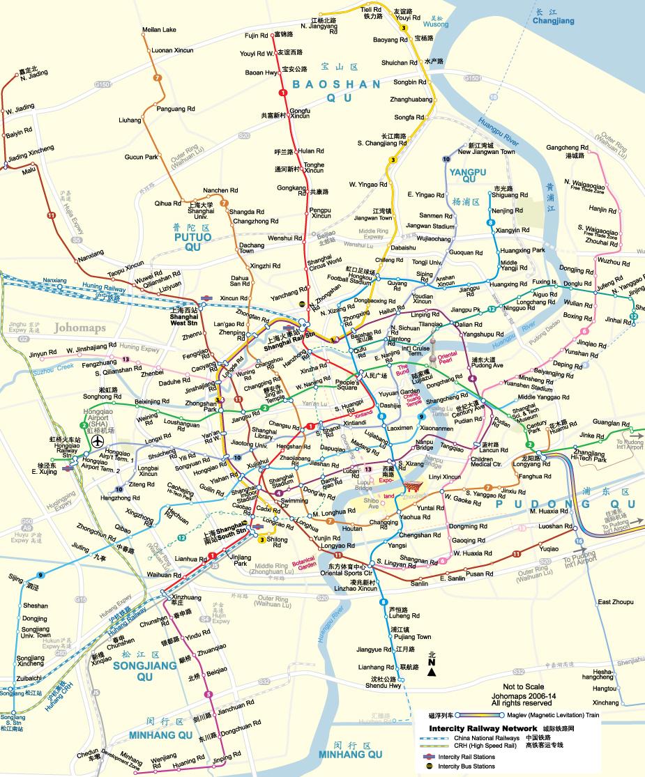 卓號地圖 - 上海地鐵圖