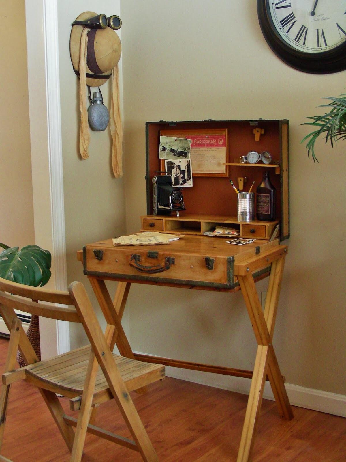 old office chair and table lawn chairs usa escrivaninhas criativas joia de casa