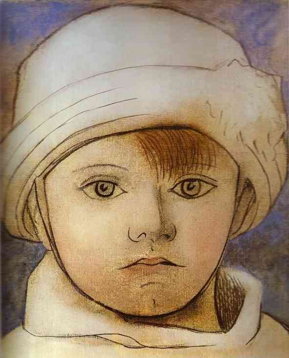 Pablo Picasso. Portrait of Paul Picasso as a Child.