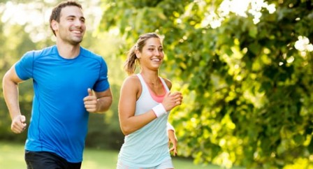 man and woman running first time beginners