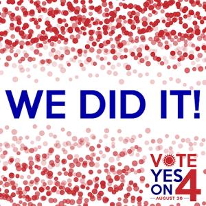 "Amendment 4 Passed image saying ""we did it"""