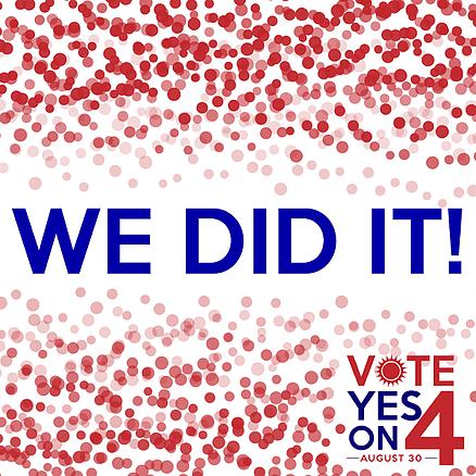 Amendment 4 Passed!
