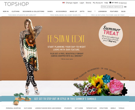 topshop online shop