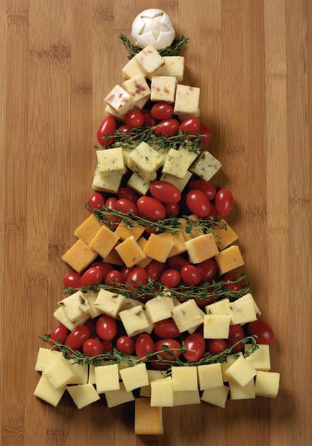 albero di natale formaggio