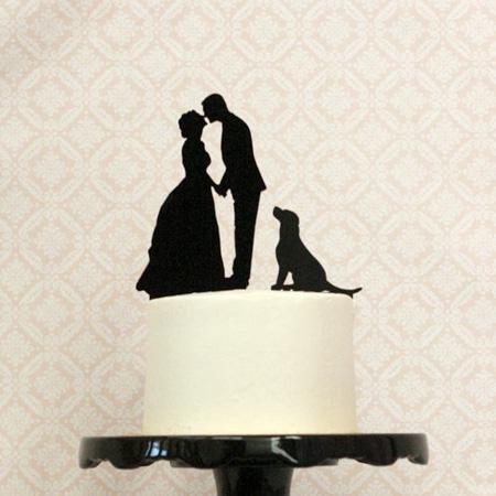 cake topper coppia e cane