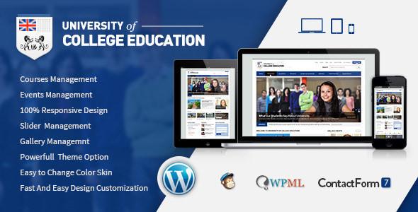 University - Education Responsive WordPress Theme