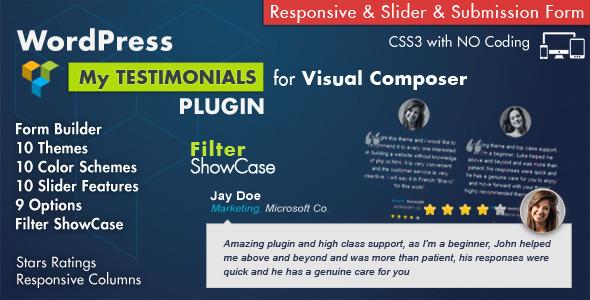 Testimonials Showcase v3.8 - for Visual Composer Plugin v4.0