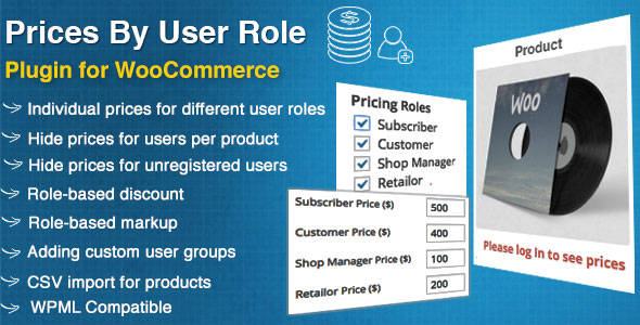 WooCommerce Prices By User Role v4.0