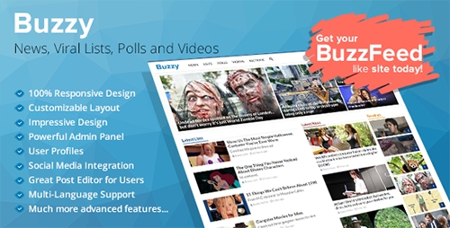 Buzzy v2.5.2 - News, Viral Lists, Polls and Videos