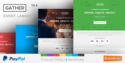 Gather - Event & Conference WP Landing Page Theme v2.6