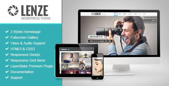 Lenze v2.1 - Portfolio Photography WordPress Theme