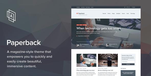 Paperback v1.7.8 - Magazine WordPress Theme