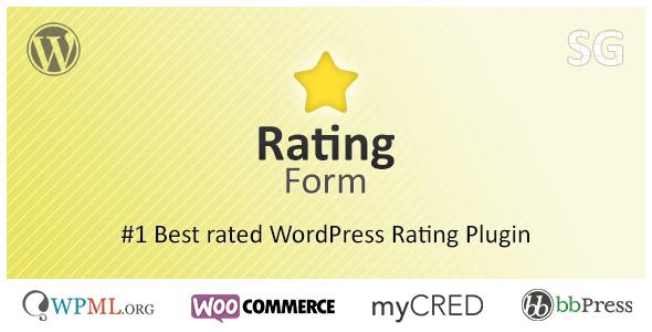Rating Form - WordPress Rating Plugin v1.6.3
