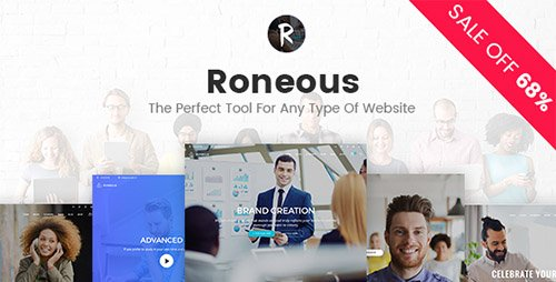 Roneous v1.6.1 - Creative Multi-Purpose WordPress Theme
