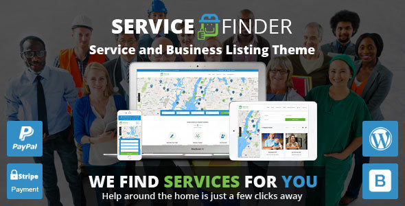 Service Finder v3.2 – Service and Business Listing WordPress Theme
