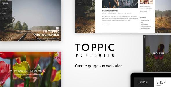 TopPic Photography v1.7 - Portfolio Photography Theme