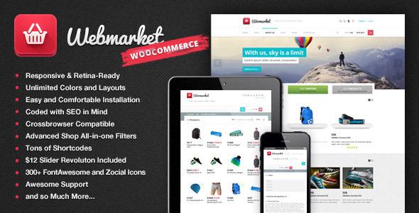 Webmarket v2.5.3 - WP Theme for Advanced Online Shops
