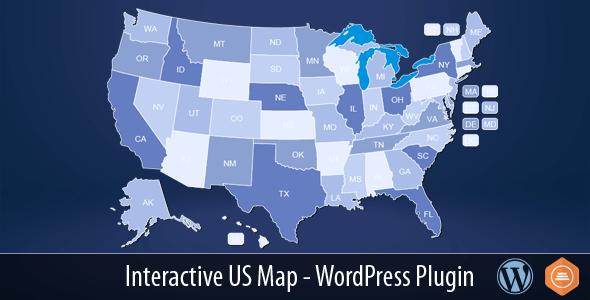 Interactive US Map v2.2.2 - WordPress Plugin