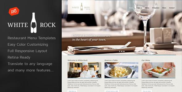 White Rock v2.4 - Restaurant & Winery Theme | WordPress