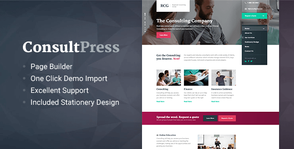 ConsultPress v1.5.0 - WordPress Theme for Consulting and Financial Businesses