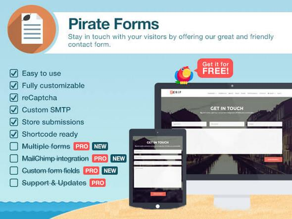 Pirate Forms Pro v1.5.1 - Contact Form Plugin for WordPress