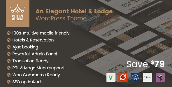 Solaz v1.0.9 - An Elegant Hotel & Lodge WordPress Theme