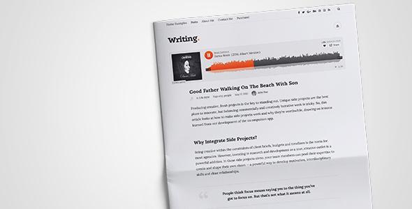 Writing v3.37 - Personal Blog WordPress Theme