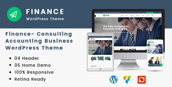 Finance v1.2.6 - Consulting, Accounting WordPress Theme