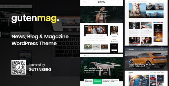 GutenMag v1.1.3 - Gutenberg WordPress Theme for Magazine and Blog