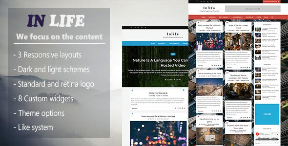 InLife v1.4.1 - Simple & Flexible Blog/Magazine